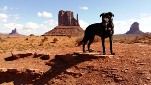Porter posing in Monument Valley