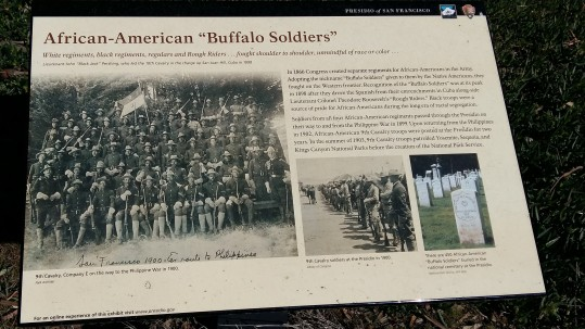 African-American Buffalo Soldiers sign in San Francisco